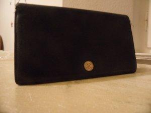 CHANEL Wallet Grained Leather Geldbörse Leder Schwarz Edel