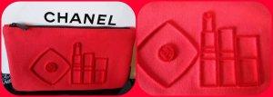 Chanel Borsa clutch rosso-nero Fibra tessile