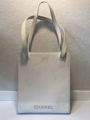 CHANEL weiße Leder-Handtasche