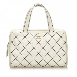 Chanel Sac à main blanc cuir
