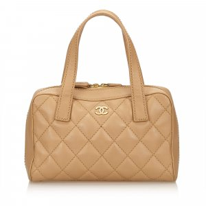 Chanel Wild Stitch Lambskin Leather Handbag