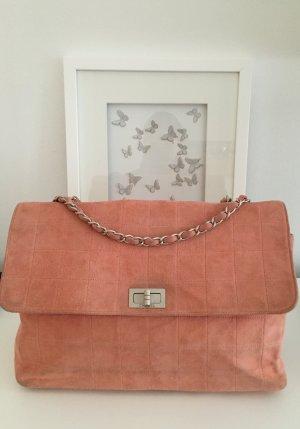 Chanel wildleder jumbo tasche rosa