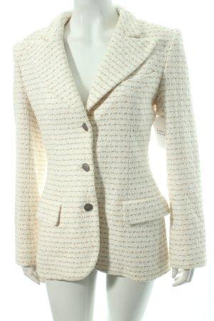 Chanel Woll-Blazer creme-beige Nude-Look