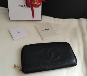 Chanel Zippy Geldbörse Kaviar