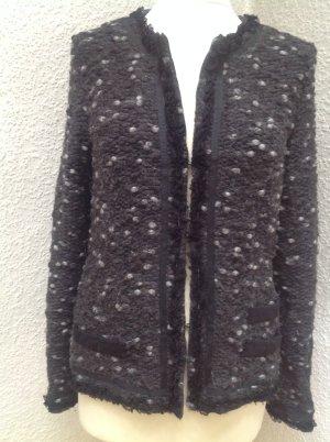Marc Cain Wool Jacket anthracite-light grey mixture fibre