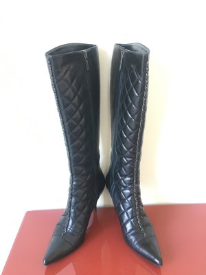 Chanel Heel Boots black leather