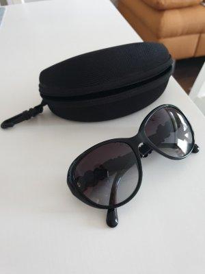 Chanel Occhiale da sole ovale nero Materiale sintetico