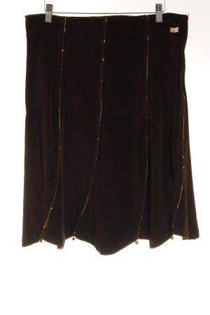 Chapati Flared Skirt dark brown medieval style