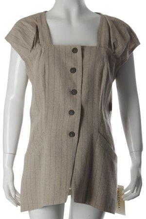 Charisma Vest beige-black brown striped pattern simple style