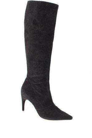 Charles Jourdan Absatz Stiefel schwarz klassischer Stil