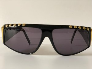 Charles Jourdan Oval Sunglasses gold-colored-black synthetic material