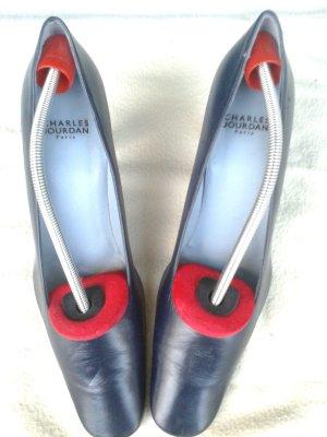 Charles Jourdan Pumps marineblau Gr. 8,5