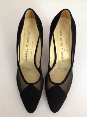 Charles Jourdan Pumps Wildleder schwarz 36