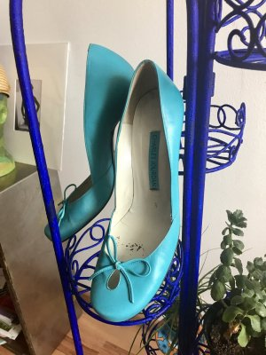 Charles Jourdan Retro 90ies High Heel Pumps Aqua mint 40
