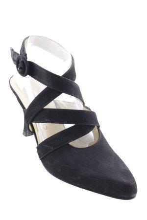 CHARLES JOURDAN Sandalo con cinturino e tacco alto nero stile professionale