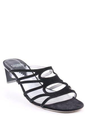 Charles Jourdan Riemchen-Sandaletten schwarz Elegant