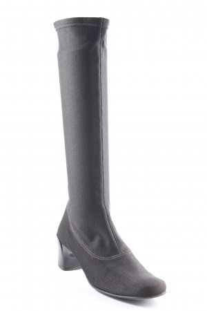 Charles Jourdan Bottes stretch gris anthracite style simple