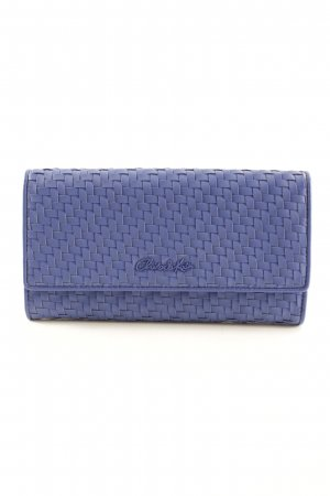 Charles & Keith Wallet blue weave pattern street-fashion look