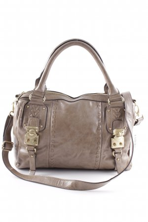 Charles & Keith Carry Bag grey brown casual look