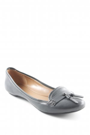 Charles & Keith Patent Leather Ballerinas dark grey business style