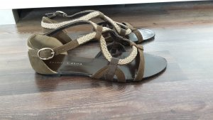 Charles & Keith Strapped Sandals brown-light brown