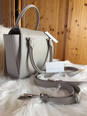 Charles & Keith Crossbody bag light grey-silver-colored