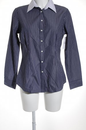 Charles Tyrwhitt Hemd-Bluse weiß-dunkelblau Nadelstreifen Business-Look
