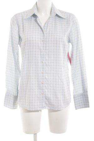 Charles Tyrwhitt Langarmhemd weiß Karomuster schlichter Stil