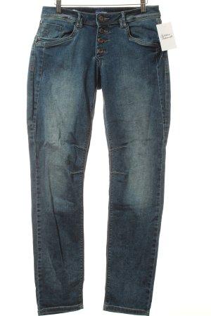 Charles Vögele Jeans blau-wollweiß Used-Optik