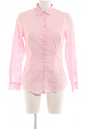 Charles Vögele Long Sleeve Shirt pink striped pattern business style