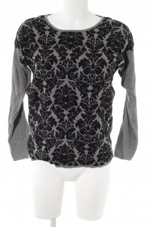 Charles Vögele Oversized Sweater grey-black abstract pattern