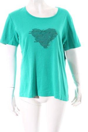 Charles Vögele T-Shirt grün-dunkelgrün Motivdruck Casual-Look