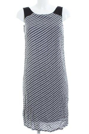 Charles Vögele Trägerkleid schwarz-weiß Allover-Druck Casual-Look