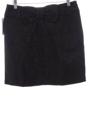 Charlise Miniskirt black-gold-colored allover print wet-look