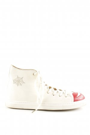 Charlotte Olympia High Top Sneaker themed print casual look
