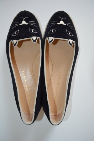 Charlotte Olympia Ballerinas with Toecap black leather