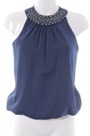 Charlotte Russe ärmellose Bluse dunkelblau Elegant