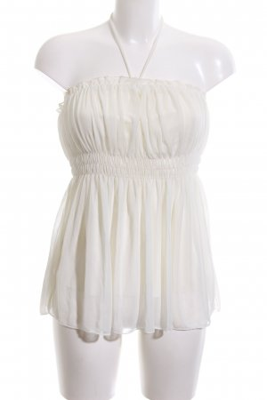 Charlotte Russe Bandeau Top cream casual look