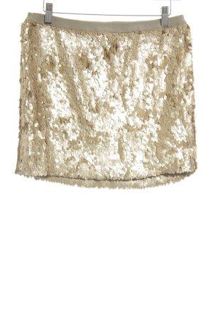 Charlotte Russe Minirock goldfarben Glanz-Optik