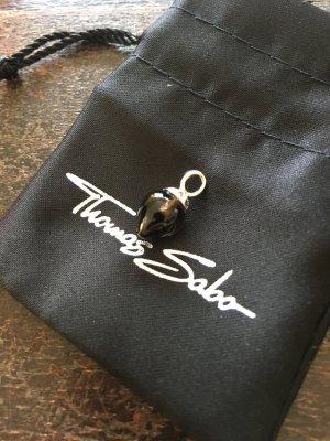 Thomas Sabo Ciondolo marrone scuro-argento