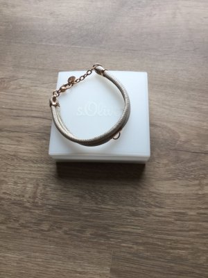 s.Oliver Leather Bracelet oatmeal leather