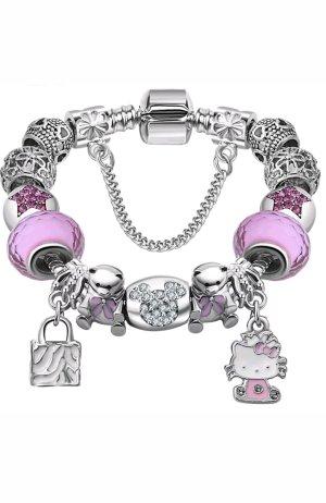 Charm Armband Hello Kitty 925 Silber Neu