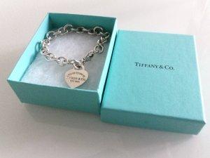 Charm-Armband mit Herzanhänger Tiffany&Co Größe S Silber