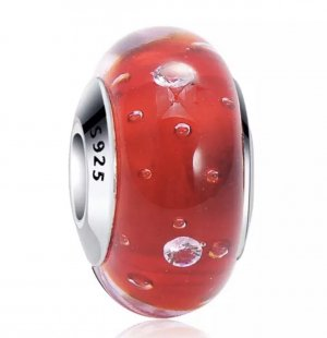 Charm/ Bead - Muranoglas , S925 Silber