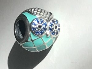 Charm silver-colored-turquoise