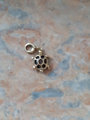 Fossil Charm brown-gold-colored stainless steel