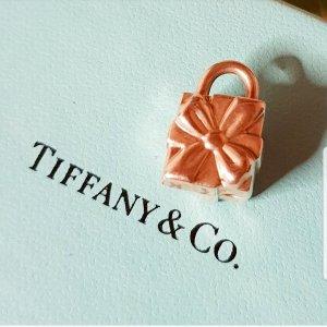 Charm Geschenkpaket mit Schleife Tiffany