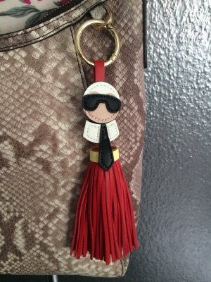 Key Chain red imitation leather