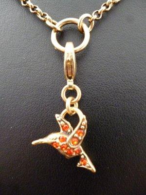 Pilgrim Breloque doré-rouge métal