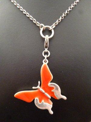 Pilgrim Charm silver-colored-dark orange metal